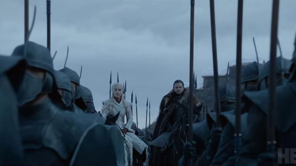"""Daenerys Targaryen und John Snow im Trailer zur finalen """"Game of Thrones""""-Staffel."""