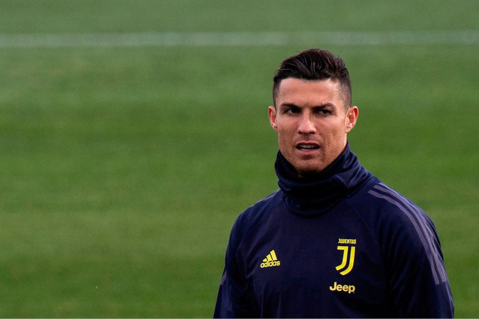 Cristiano Ronaldo präsentierte sich beim Abschlusstraining gut gelaunt.