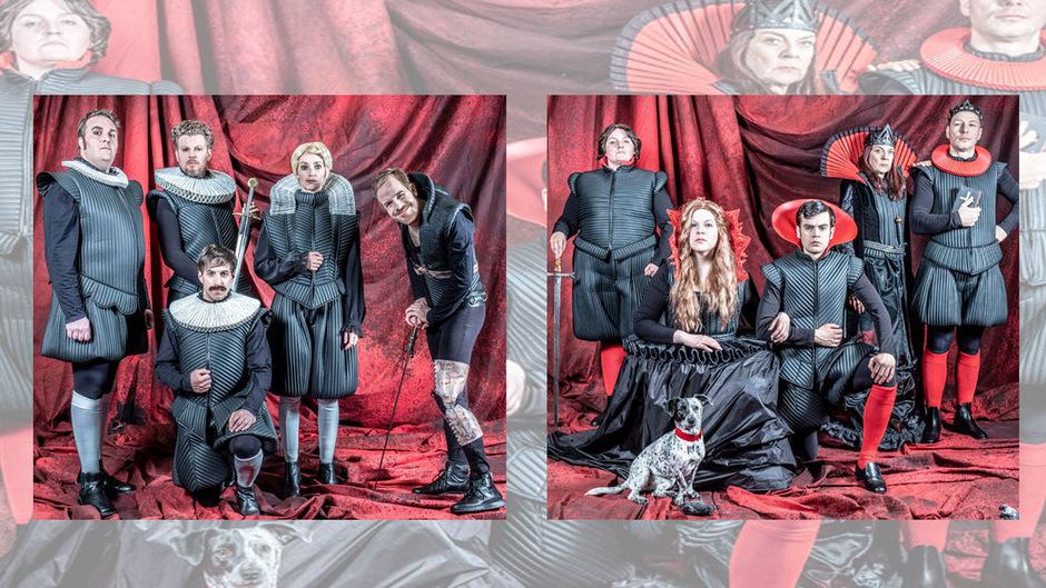 An der Farbe ihrer Socken sollt ihr sie erkennen. Mitglieder des Hauses York (links, helle Socken) liefern sich mit ihren Kontrahenten aus dem Adelsgeschlecht des Hauses Lancaster (rechts, rote Socken) ein Match um die Macht auf Gedeih und Verderb.
