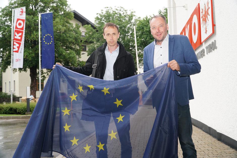 REA-GF Günter Salchner (l.) und WK-Bezirksstellenleiter Wolfgang Winkler setzen auf Binnenmarkt und internationale Vernetzung.