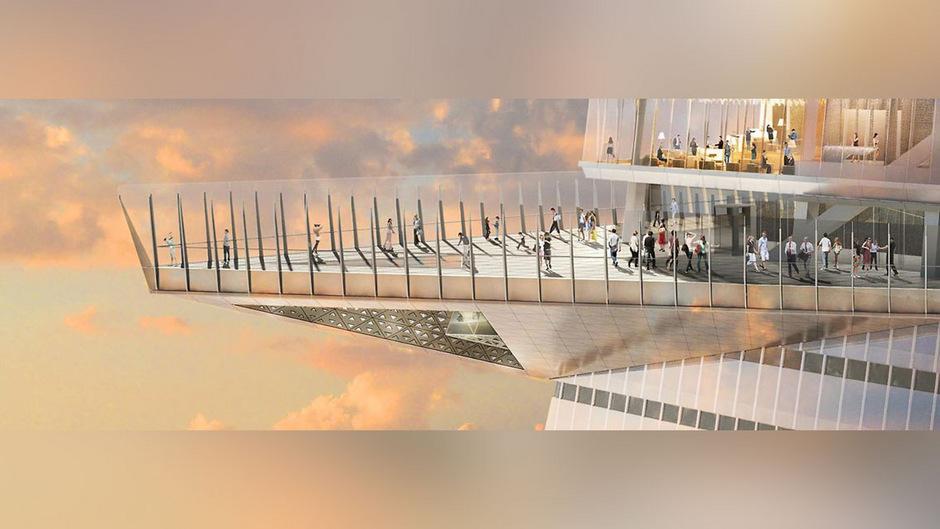 """Am 30 Hudson Yard liegt im 100. Stock die Aussichtsplattform """"Edge""""."""