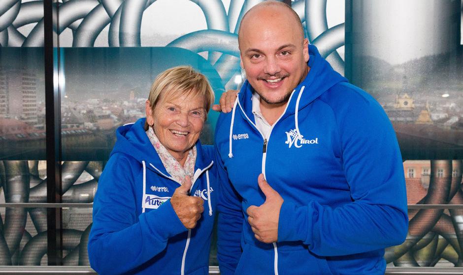Da war die Zukunft noch eine gemeinsame: VC-Tirol-Obfrau Therese Achammer und Trainer Michael Jensen beim Saisonstart 2017.
