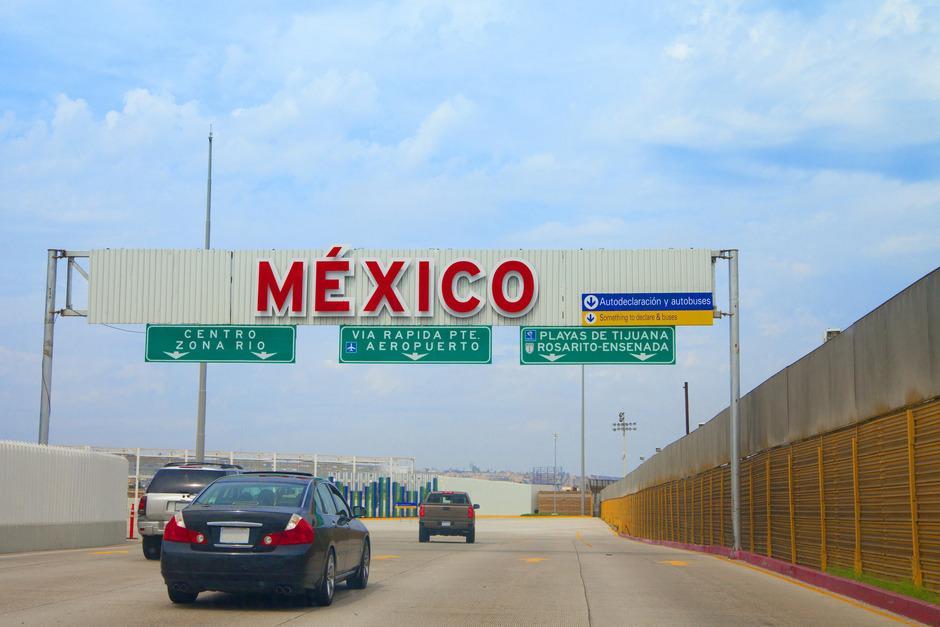 Die Grenze zwischen Mexiko und den USA bei San Diego. Nur wenige Kilometer entfernt befindet sich Tijuana - die gefährlichste Stadt der Welt.