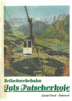 """Die """"Seilschwebebahn"""" auf den Kofel, künstlerisch dargestellt von August Moser."""