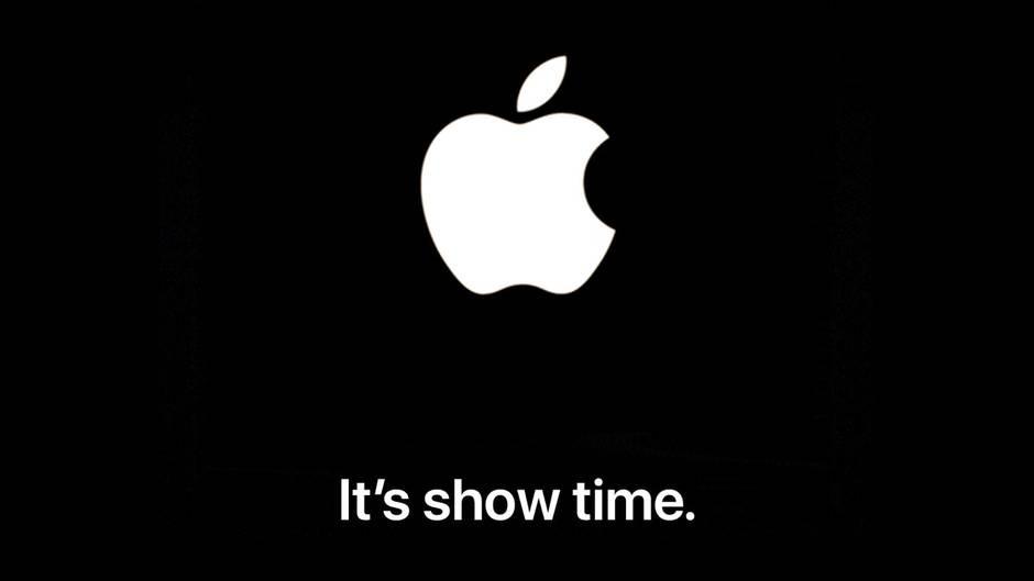 """Mit diesem schlichten Bild lädt Apple zum Event am 25. März. Mit dem Ausspruch """"It's show time"""" warb der Technologieriese zuletzt bei einer Keynote im Jahr 2006, als Apple TV – damals noch iTV – an den Start ging."""