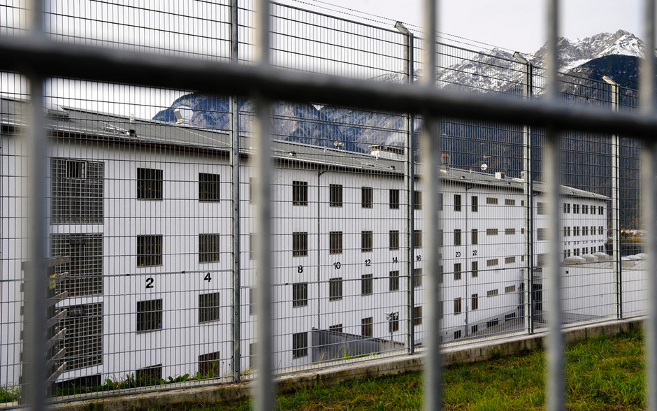 Blick auf die Innsbrucker Justizanstalt.