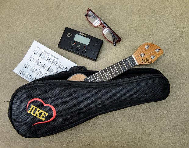 Mobil: Das Instrument passt samt Stimmgerät in kleine Taschen.