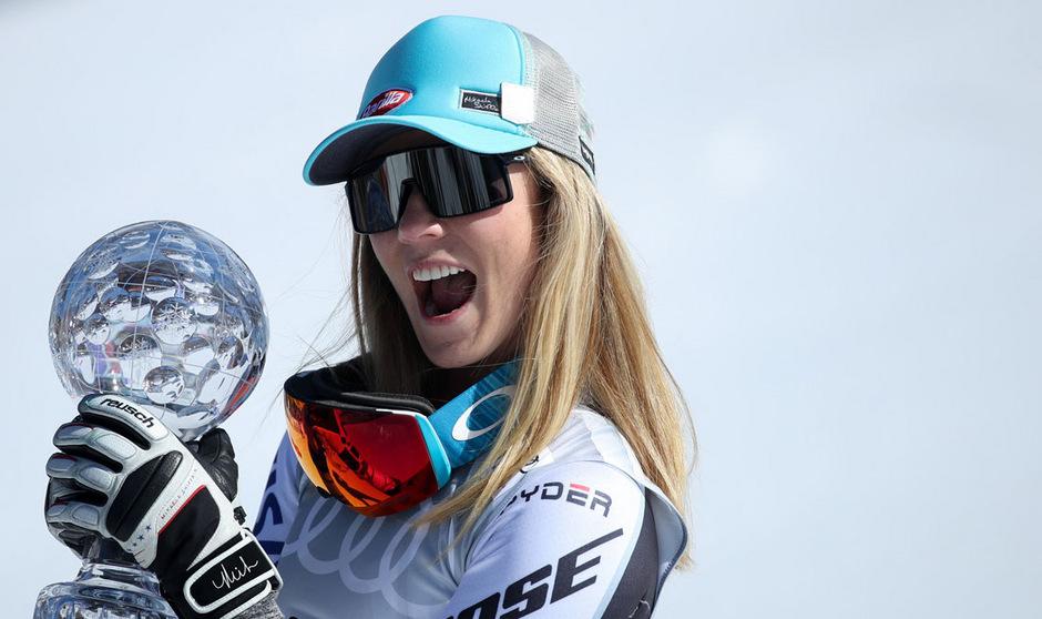 Mikaela Shiffrin durfte erstmals in einer Speed-Disziplin über die kleine Kristallkugel jubeln.