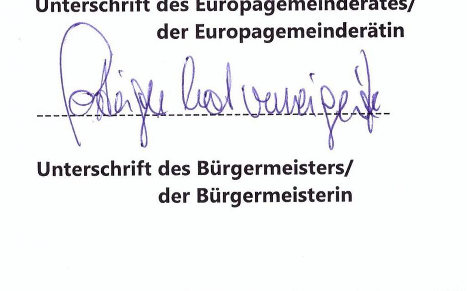 """Man muss schon genau hinschauen: Wo seine Unterschrift stehen sollte, schrieb Bürgermeister Klaus Gasteiger """"Gasteiger hat verweigert"""""""