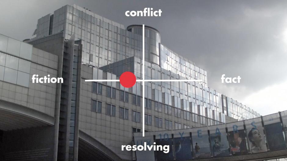 """Still aus dem im Innsbrucker aut zu sehenden Film """"Architecting after Politics"""" von Brandlhuber+ und Christopher Roth, 2018."""