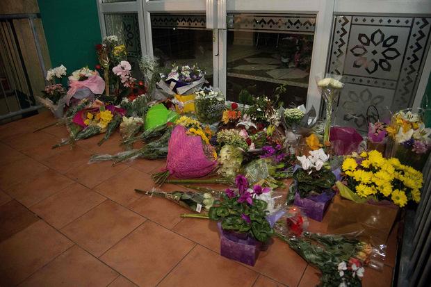 Blumen vor einer Moschee in Christchurch. Ein Angreifer hat am Freitag49 Gläubige beim Freitagsgebiet erschossen.
