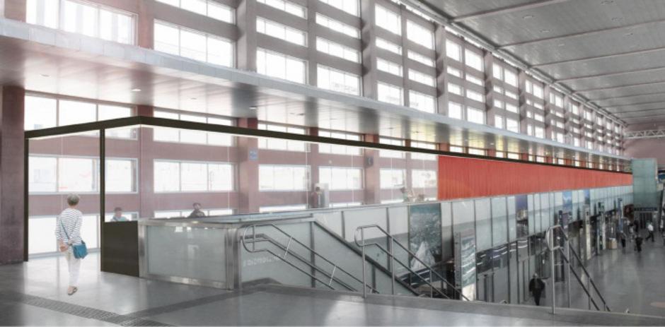 Die Visualisierung der ÖBB zeigt, wie die Galerie am Hauptbahnhof künftig aussehen wird.
