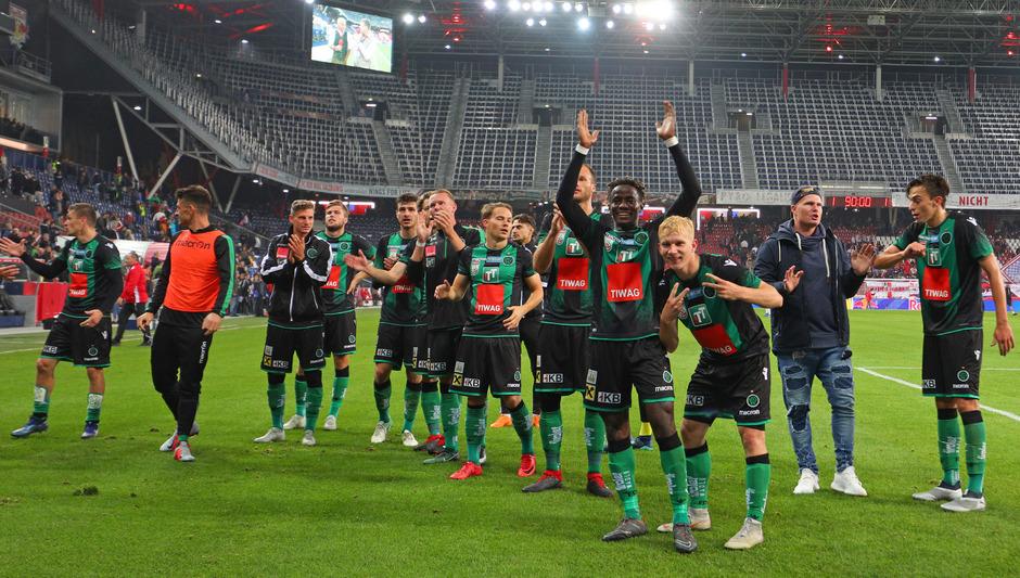Wiederholung erbeten: Am 20. Oktober 2018 feierte der FC Wacker ein durchaus sensationelles 1:1-Remis in der Salzburger Red-Bull-Arena.