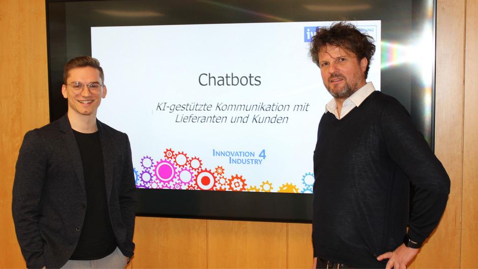 Frederick Schröder (knowhere GmbH) und Alexander Wahler (Onlim) setzen beim Kundenservice auf künstliche Intelligenz.
