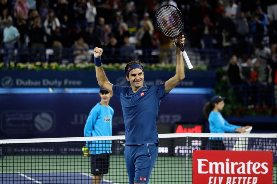 Roger Federer hatte einmal mehr Grund zum Jubeln.
