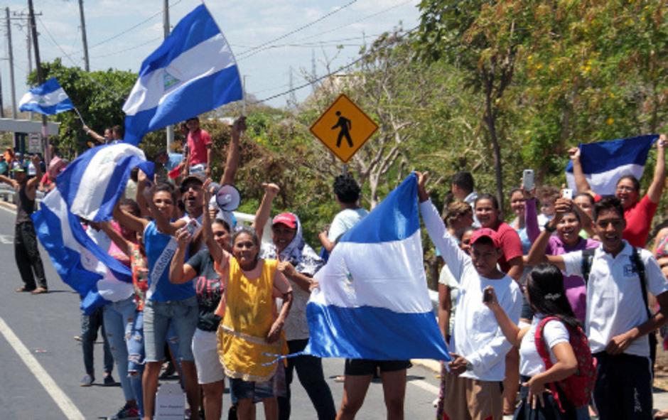 In den Straßen von Managua wurde die Entlassung der Oppositionellen gefeiert.