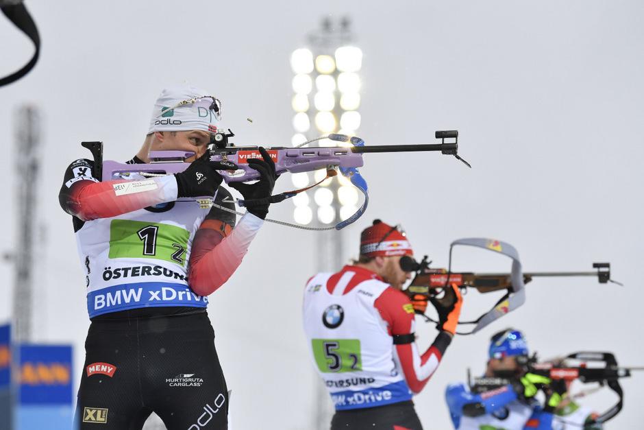 Vetle Sjaastad Christiansen und Norwegen durften über Gold in der Staffel jubeln.