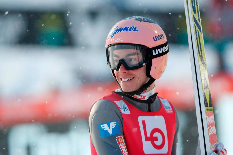 ÖSV-Skispringer Stefan Kraft trumpfte in Vikersund groß auf.