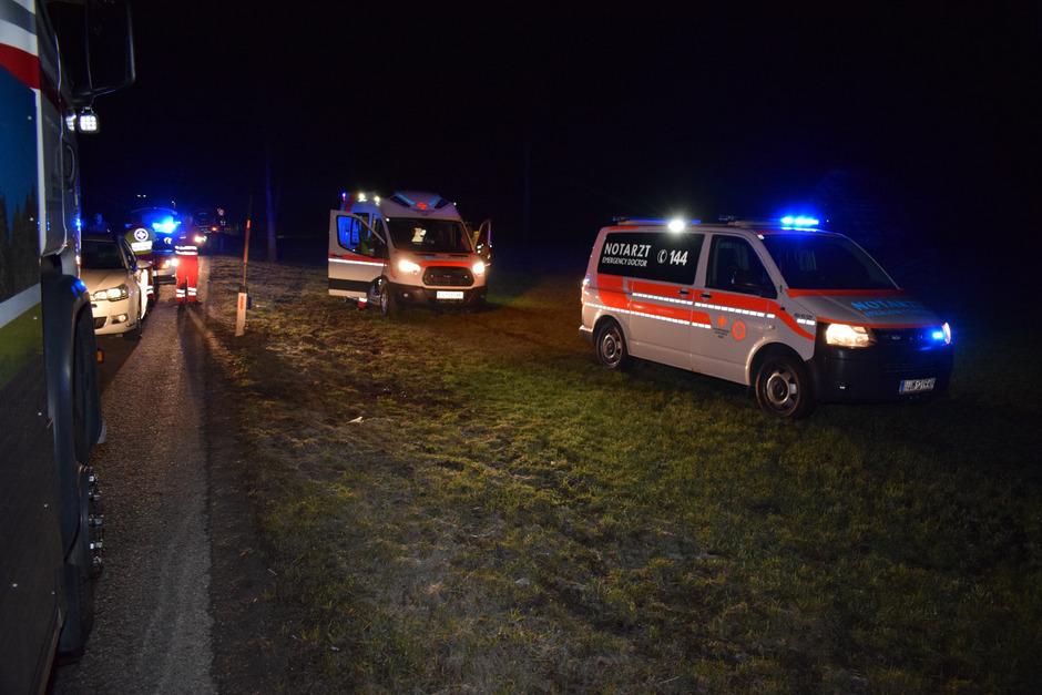 Die Unfallstelle auf der Wildbichler Bundesstraße.