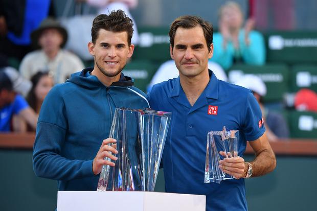 Roger Federer musste Dominic Thiem in Indian Wells den Vortritt lassen.