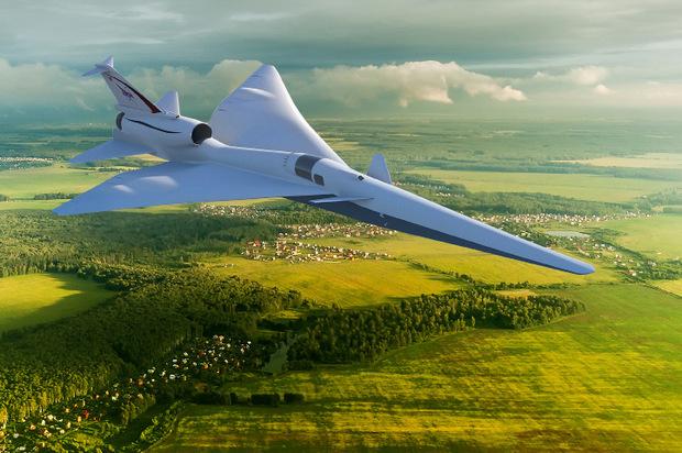 """In drei Jahren soll die X-59 (""""Quiet Supersonic Transport"""") erstmals abheben."""