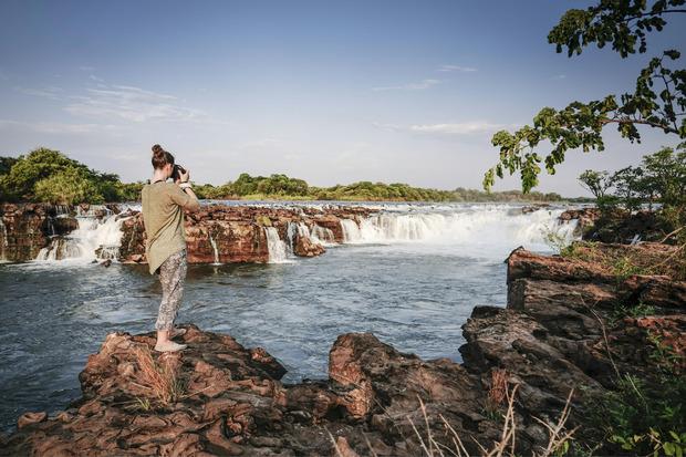 Die Sioma Falls sind ein noch wenig entdeckter Naturschatz am Sambesi.