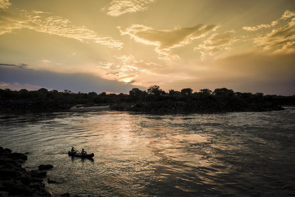Der Sambesi wird abseits der Victoriafälle selten von Touristen besucht.