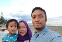 Hafiz Bakri mit seiner Familie: Unterstützung für Muslime.