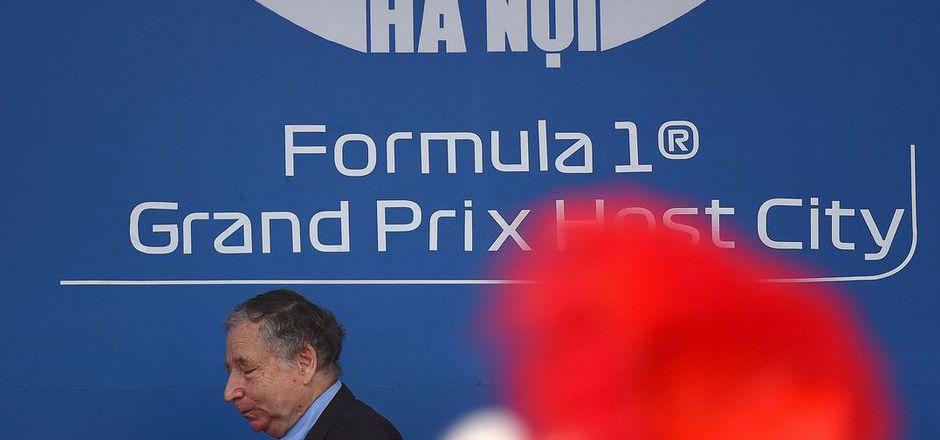 FIA-Präsident Jean Todt bei der Zeremonie in Hanoi.