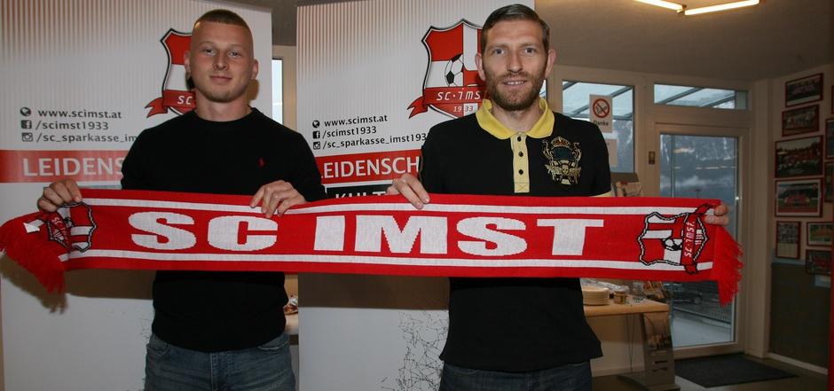 Mit Angreifer Marvin Schöpf (l.) und Ex-Nationalteamspieler Ronald Gercaliu holte sich Imst hochkarätige Verstärkung für das Frühjahr.