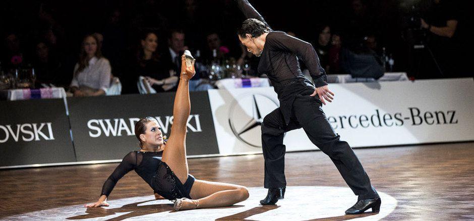 Die Deutsche Nina Trautz (hier mit Valera Musuc) nimmt mit Neo-Tanzpartner Victor Burchuladze Anlauf auf das World-Masters-Podest.