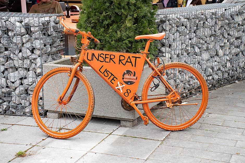 Auch zwei Fahrräder der Liste Gerechtes Innsbruck sind vor einem Jahr im Rapoldipark verschwunden.
