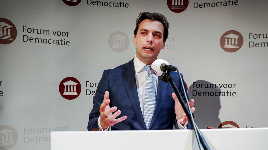 """Thierry Baudet kann sich über das Wahlergebnis seiner Partei """"Forum für Demokratie"""" freuen."""