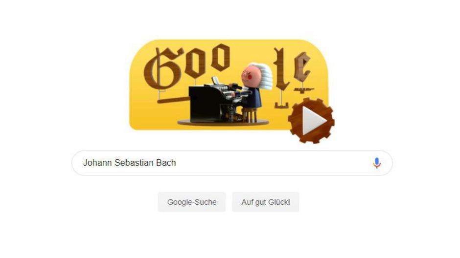 Im heutigen Google-Doodle haut eine Bach-KI in die Tasten.
