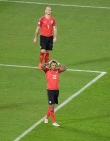 Ärgerlich: Die ÖFB-Auswahl war Polen ebenbürtig, ging aber als Verlierer vom Platz.