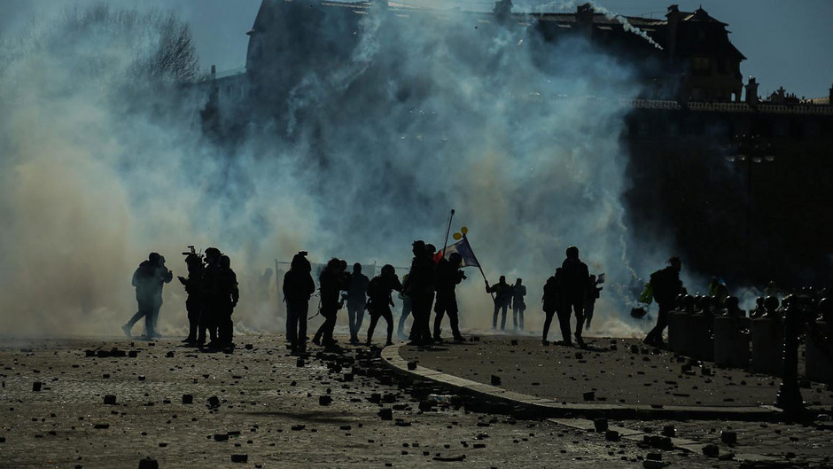 Solche Szenen, wie am vergangen Wochenende, will die Polizei nun mit einem Demo-Verbot verhindern.