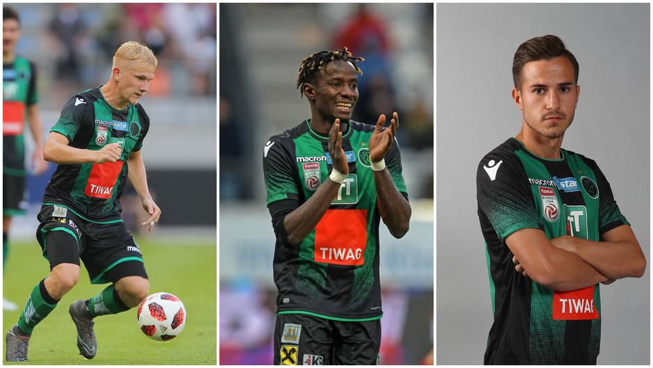 Trafen beim 3:1-Erfolg des FC Wacker gegen Regenburg – Bryan Henning, Cheikhou Dieng (Mitte) und Daniele Gabriele (rechts).