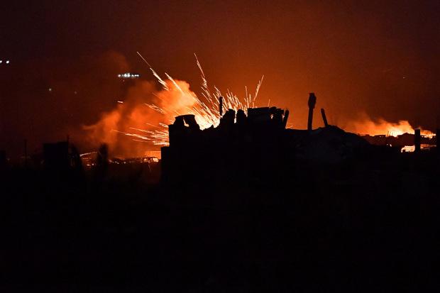 Die IS-Hochburg war massiv beschossen worden.