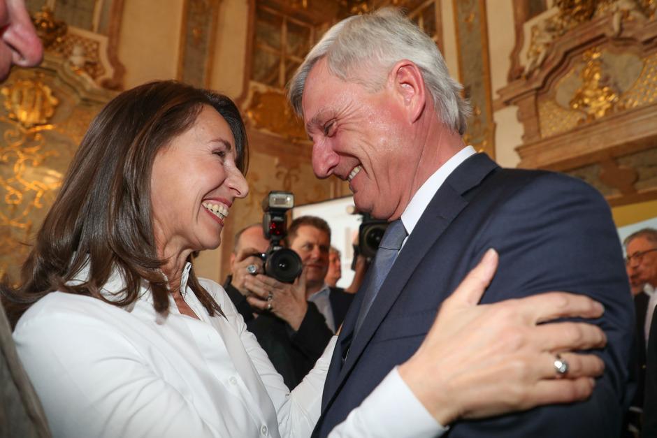 Salzburgs Bürgermeister Harald Preuner (ÖVP) mit Ehefrau Alexandra.