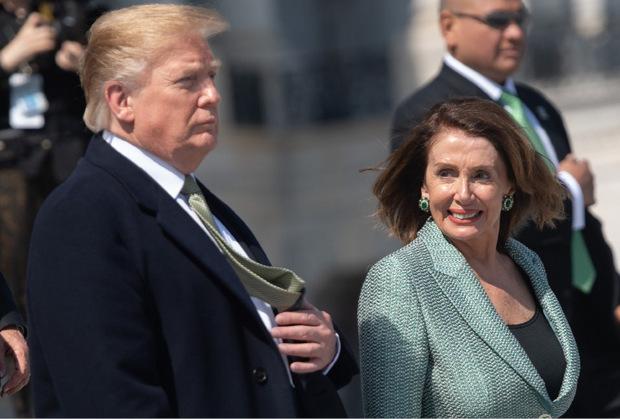 Donald Trump und Nancy Pelosi.