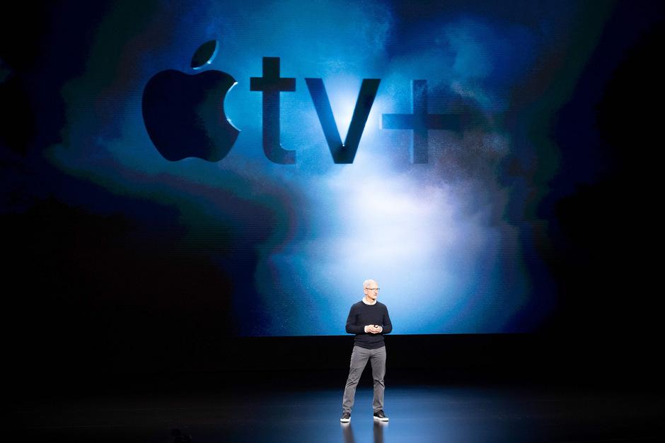 Apple-Chef Tim Cook präsentierte gestern die neuen Abo-Dienste des US-Hightech-Unternehmens.