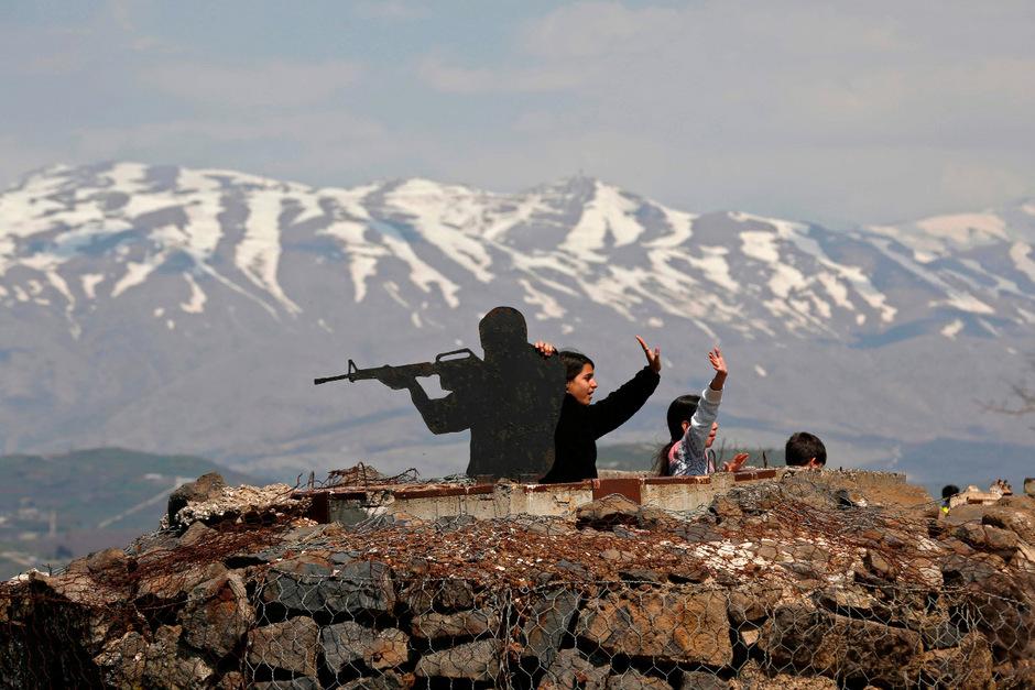 Soldaten auf den Golan-Höhen.