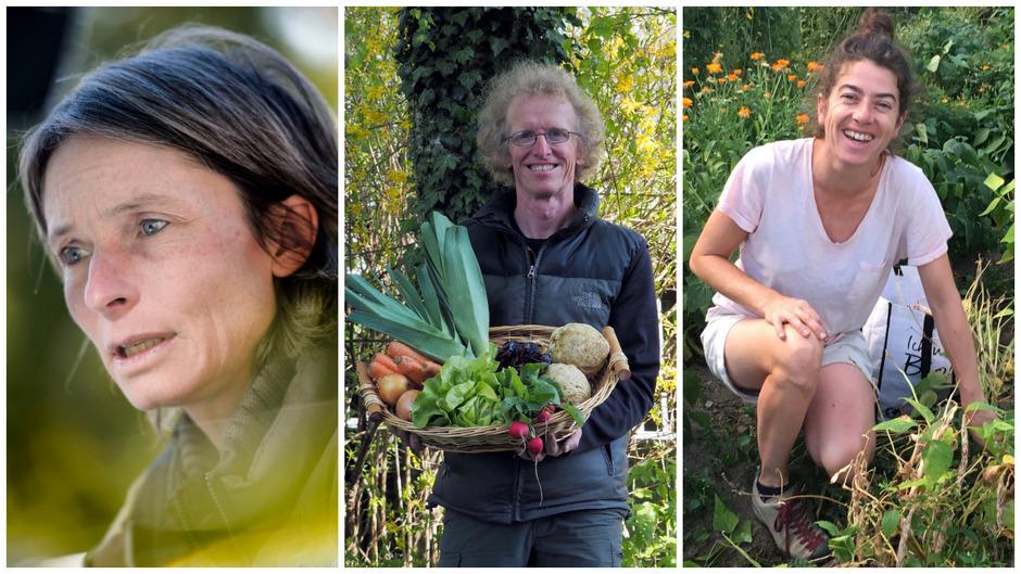 Regula Imhof, Thomas Huber und Barbara Czerny (v.l.) haben das Projekt ErdApfel – C'est LaWi gegründet.