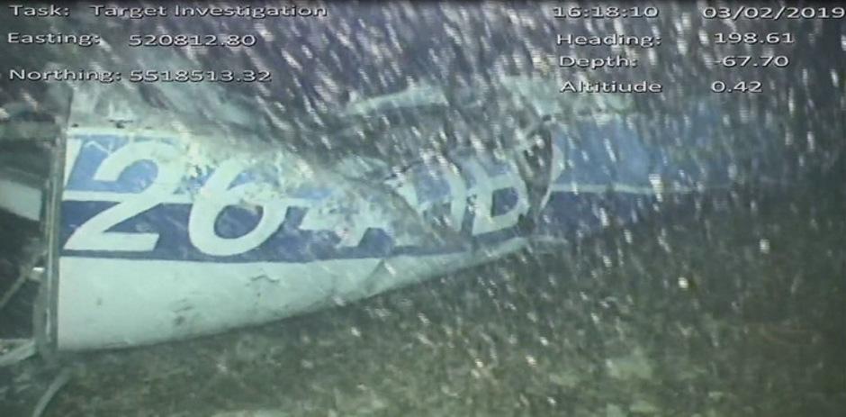 Das Flugzeug-Wrack am Grund des Ärmelkanals.