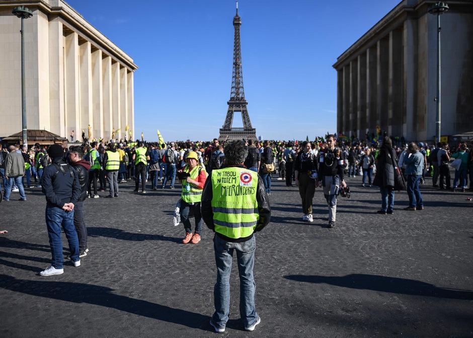 In Paris waren es am Samstag deutlich weniger Demonstranten.