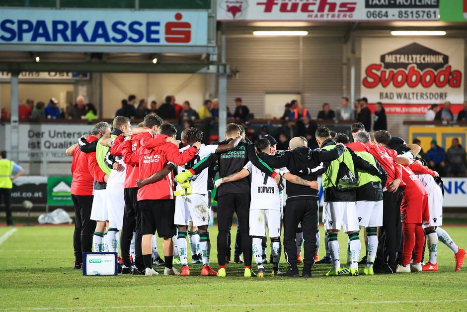 Die Wacker-Einheit präsentierte sich beim 2:0-Sieg in Hartberg wieder wie ein geschlossener Kreis.