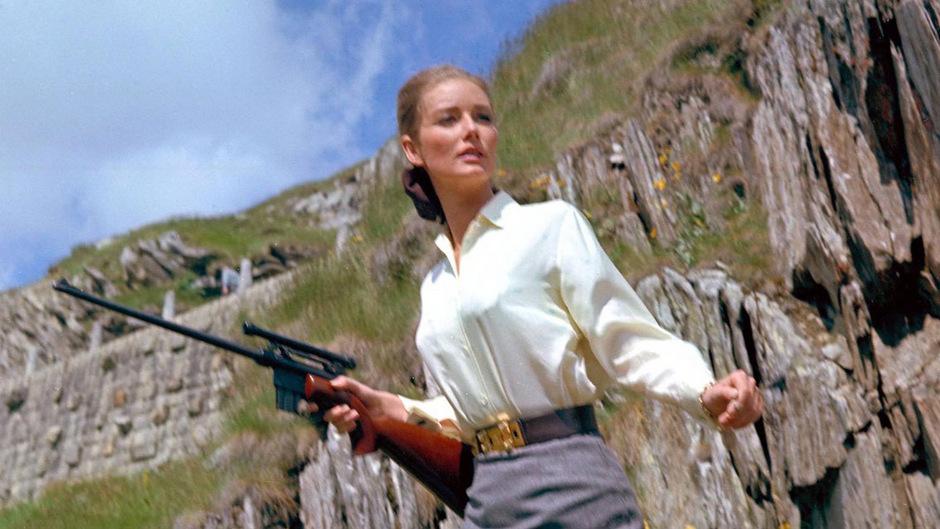 """Tania Mallet in """"Goldfinger"""" von 1964."""