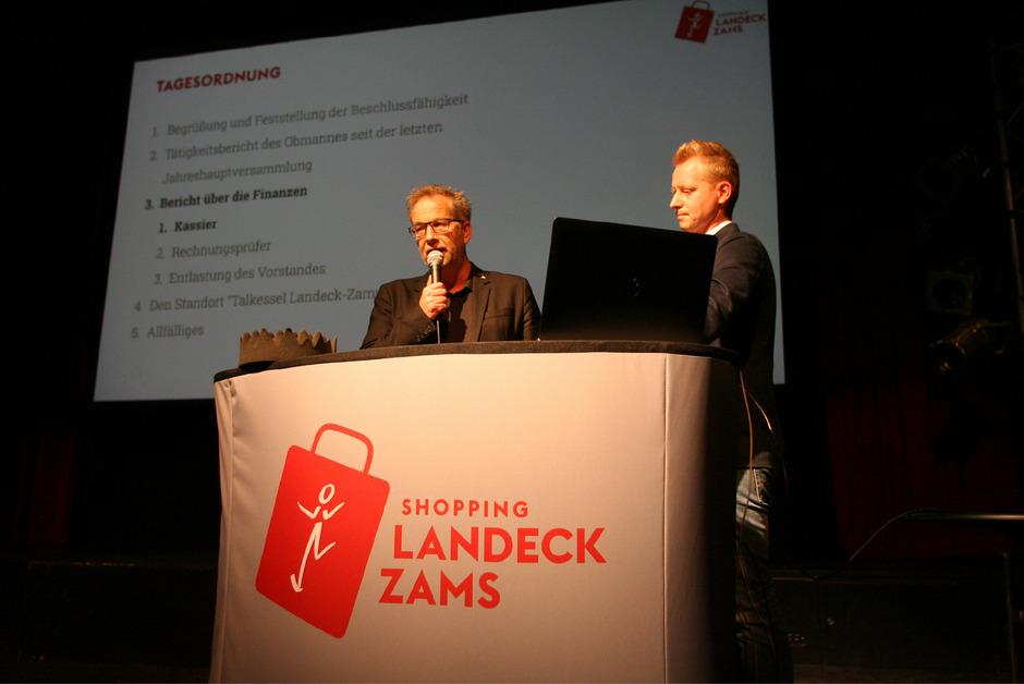 BM Wolfgang Jörg (l.) und Obmann Mathias Weinseisen diskutierten über eine mögliche Fußgängerzone.
