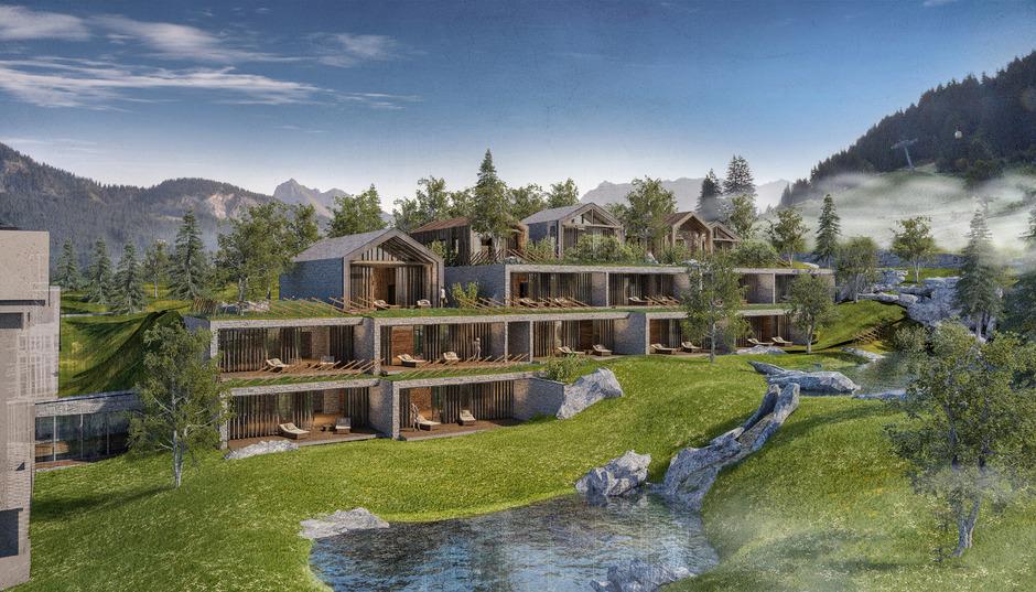 """""""Haus Mundese"""" mit Suiten im Alpine Lifestyle Hotel Jungbrunn in Tannheim."""
