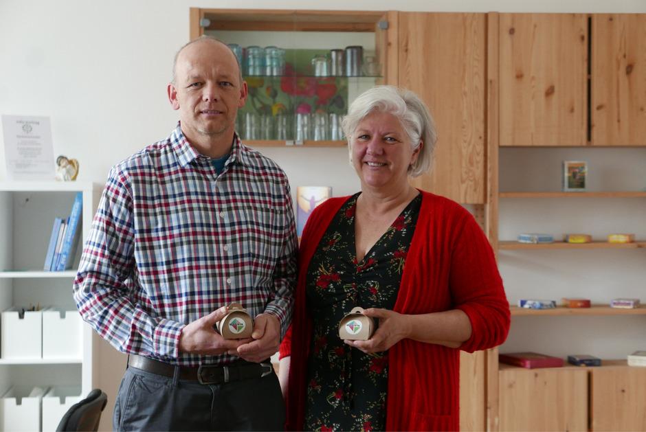 Berno Mühlburger und Karin Hainzer.